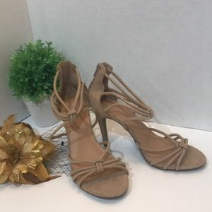 """Shoes - Women's Taupe Pumps Size 7 High Heel 4"""""""